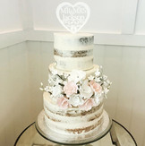 semi naked wedding cake at the harbour hotel Brighton