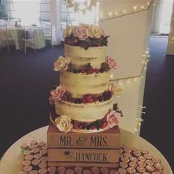 Semi naked wedding cake Worthing