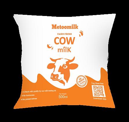 Metoomilk Farm Fresh Cow Milk - 500 ML Pack