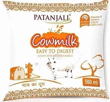 Patanjali Cow Milk- Pouch 500ml