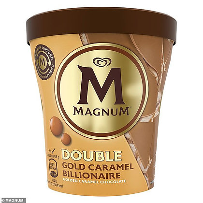 Magnum Double Gold Caramel Billionaire, 440ml Pack