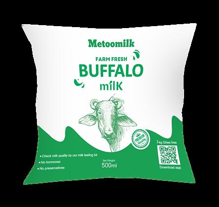 Metoomilk Farm Fresh Buffalo Milk - 500 ML Pouch