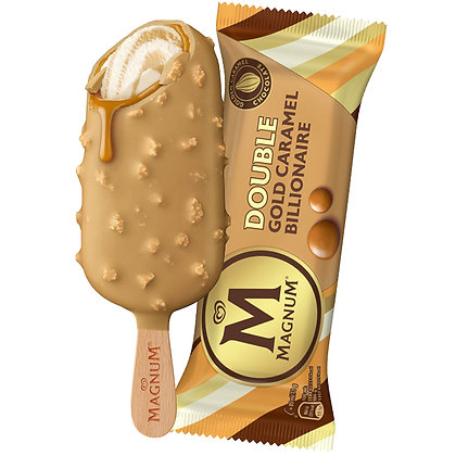 Magnum Ice Creams, Buy Double Gold Caramel Billionaire 3 x 85ml Pack