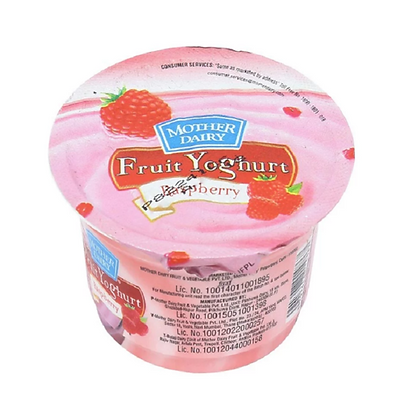 Mother Dairy Fruit Yoghurt Raspberry - 100 G