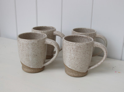 white basic mug set