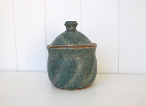 turquoise covered jar