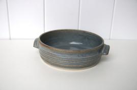 blue baking dish