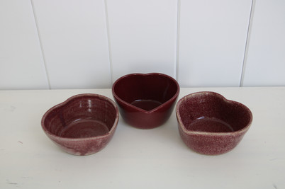 heart candy dishes