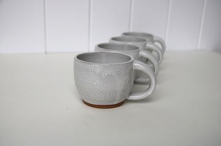 polka dot mug set