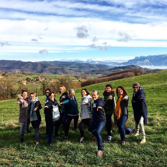 Yogis en balade sur le plateau de Chambaran - Isère