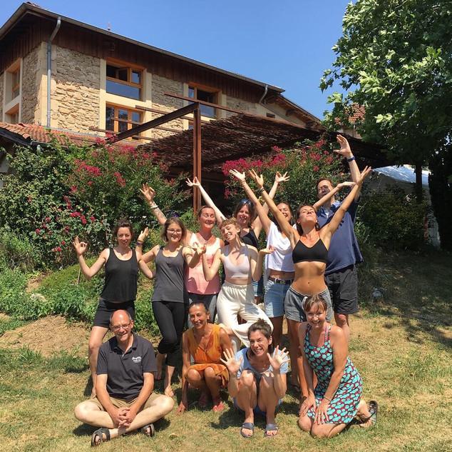 Retraite de Juillet avec Stéphane et Florence, nos hôtes !