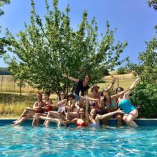 Yogis in the pool !