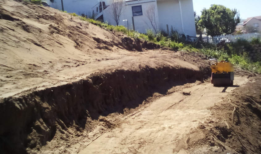 Excavation and compaction work