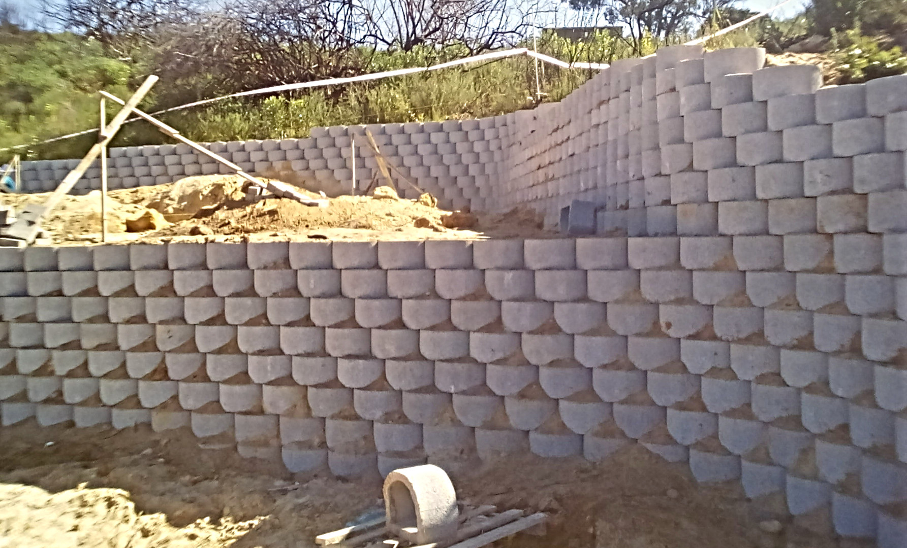 Terraced Retaining Wall