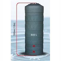800 L Water Tank - Size Comparison no na