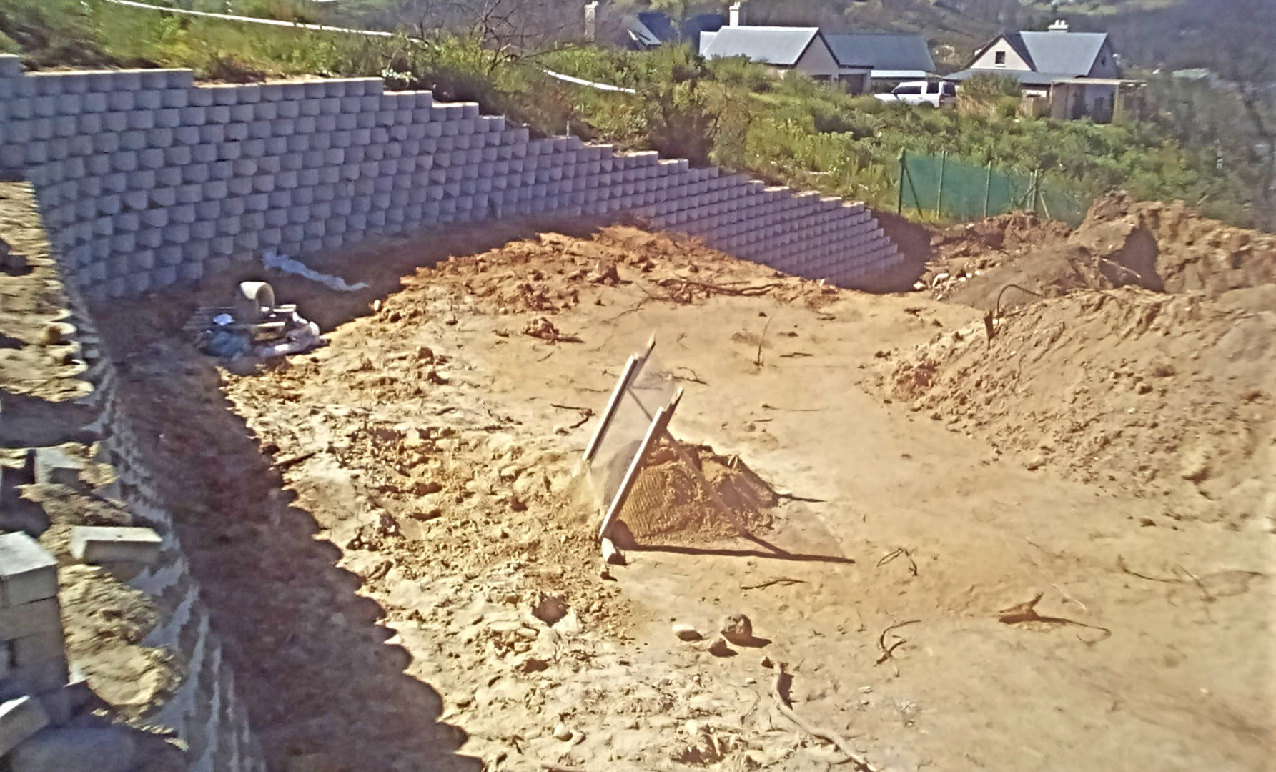 Retaining Wall down side of plot