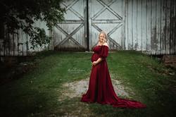 Burgundy toss gown