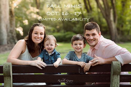 Fall Mini Sessions 2021
