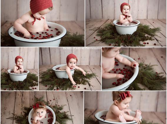 6 month milk bath
