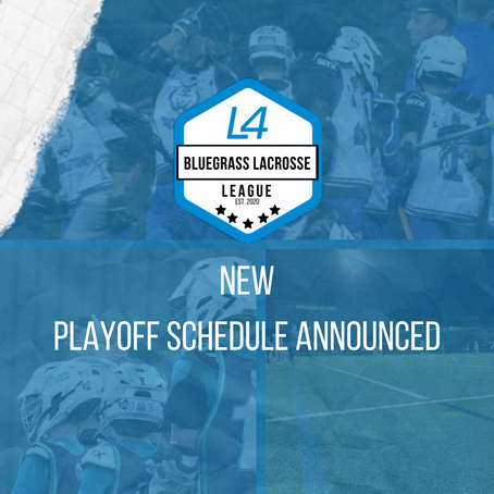 NEW Playoff Schedule Announced