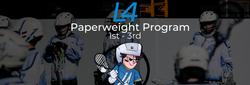Paperweight program banner