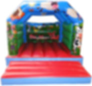 KIDDIE BOUNCE LBlue Red Green With Backw