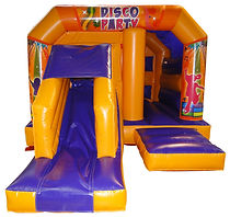 BOUNCE JUMP N SLIDE IAP DISCO Orange Pur