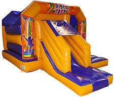 Bouncy castle wth a side