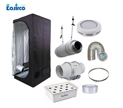 Indoor Grow Tent 60x60x140cm  With DWC Bucket,  LED Grow Light and V. .E