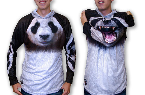PANDA BEAR Hoodie Sport Shirt by MOUTHMAN®