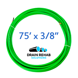"""75' x 3/8"""" Flex Shaft Sewer Cleaning Rooter Cables from Drain Rehab Solutions"""