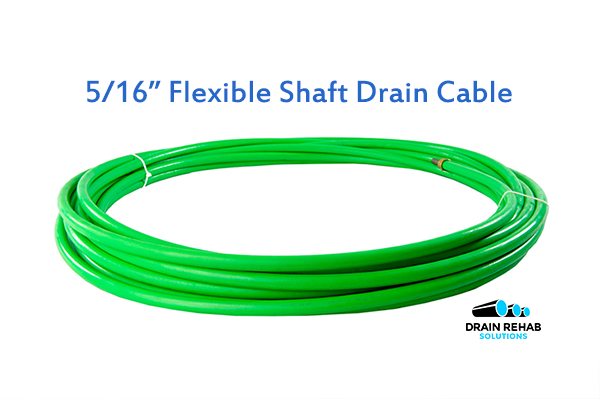 "5/16"" DRS ZIP ZIP Flexible Shaft Drain and Sewer Cleaning Cables from Drain Rehab Solutions"
