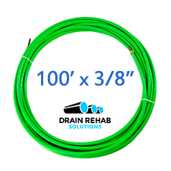 """100' x 3/8"""" DRS ZIP-ZIP Flex Shaft Drain & Sewer Cleaning Cables from Drain Rehab Solutions"""