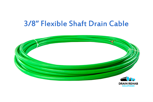 """3/8"""" DRS ZIP-ZIP Flexible Shaft Drain and Sewer Cleaning Cables from Drain Rehab Solutions"""