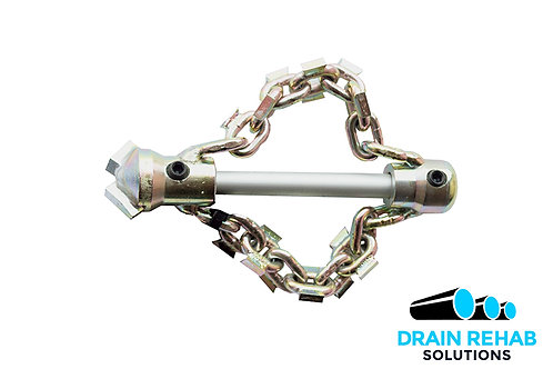 "Renssi 2""Chain Knocker (2 chains) with Drill Tip for 5/16"" Cable - RS-1050/2-DR"
