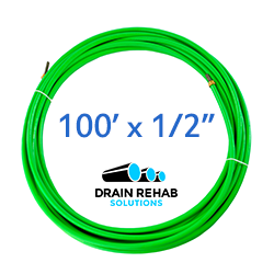 "100' x 1/2"" Flex Shaft Drain and Sewer Cleaning Cable from Drain Rehab Solutions"
