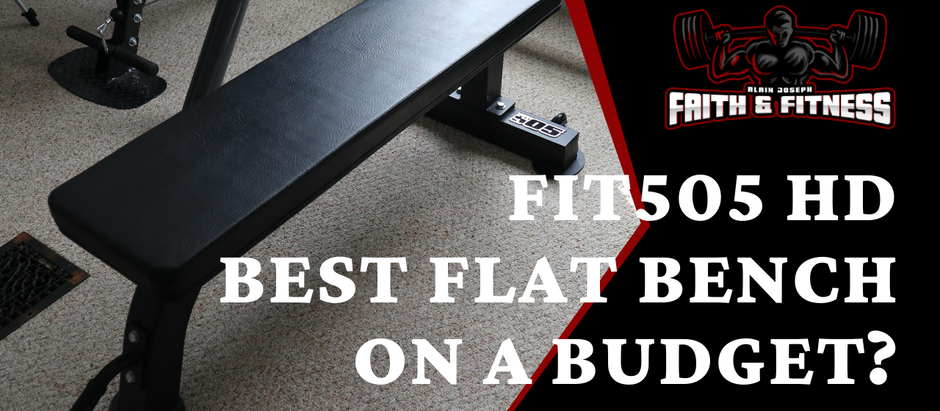 FIT505 Heavy Duty Flat Bench | Best Budget Weight Bench 2020