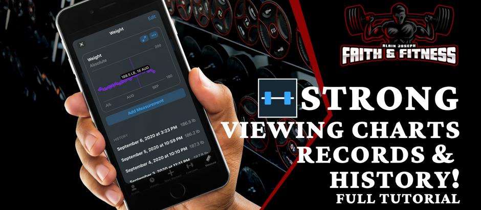 Strong Workout App   Viewing Charts, Records & History