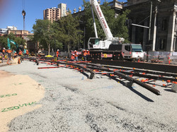 North Terrace Tram Works 2