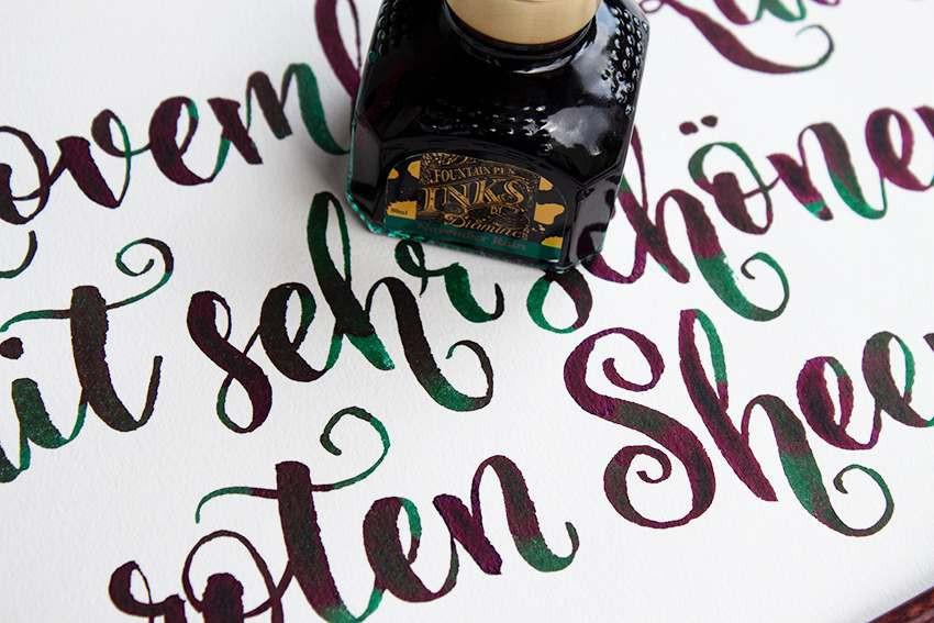 November Rain von Diamine Wunschbriefes Tintentest