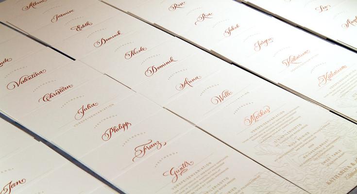 Wunderschöne Letterpresskarten