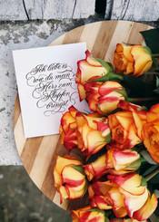 Kalligrafische Liebeserklärung