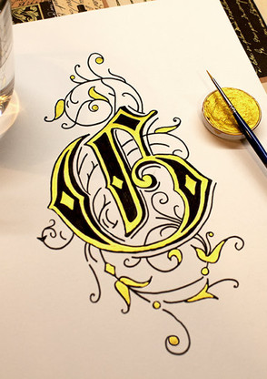 Ornamentbuchstabe G