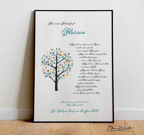 Lebensbaum als Taufgeschenk