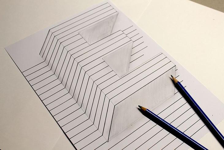 3D handlettered E Buchstabe E Handletterin