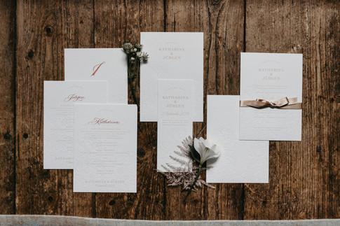 Bezaubernde Hochzeitspapeterie