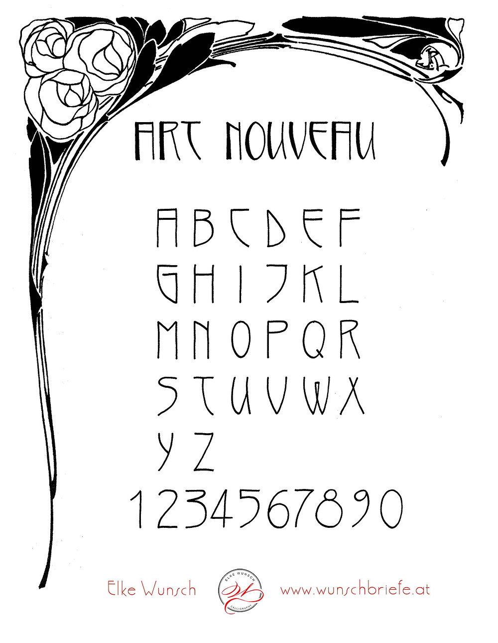 Art nouveau Alphabet by Elke Wunsch