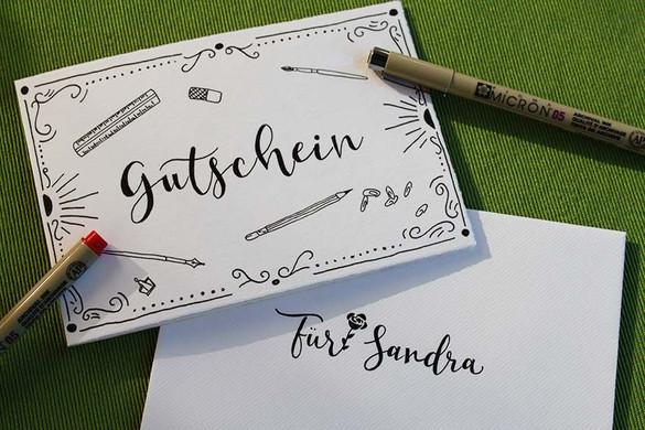 Gutschein für Handlettering Workshop Wunschbriefe Graz