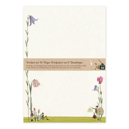 Briefpapier-Set Blütenschnecke