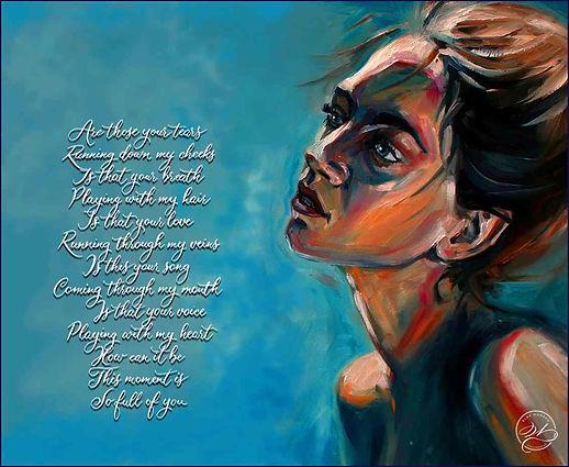 Kalligrafischer Liedtext